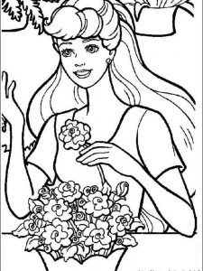 barbie coloring pages online games