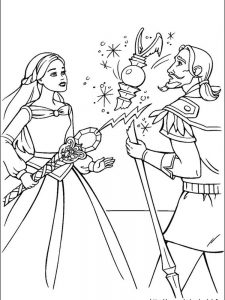 barbie colouring book pages