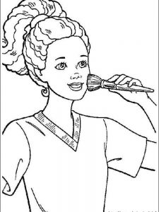 barbie colouring in pages printable