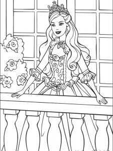 barbie colouring pages colour