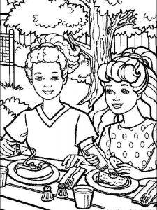 barbie dancing coloring pages