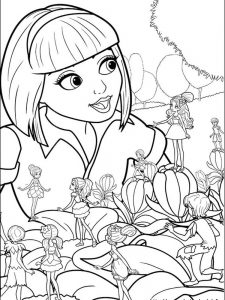 barbie dog coloring pages