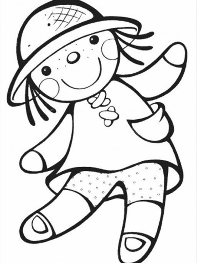 barbie doll coloring pages 1