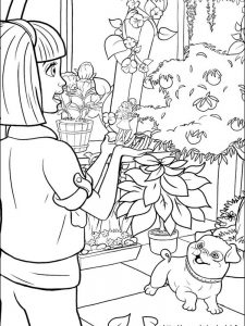 barbie dolls coloring pages