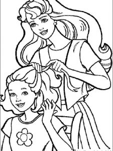 barbie dresses coloring pages