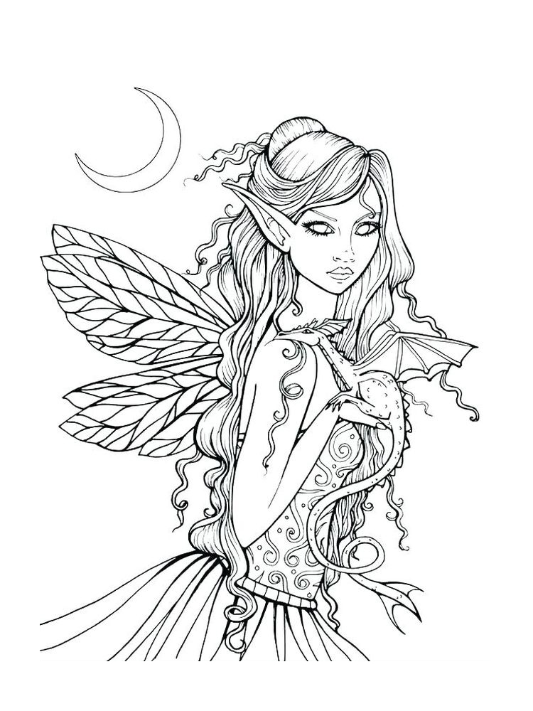 barbie fairy coloring pages to print