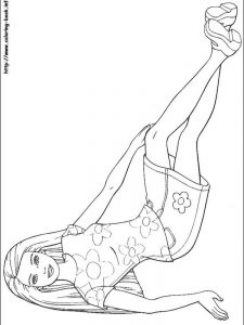 barbie getting married coloring pages