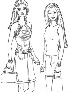 barbie hairstyle coloring pages