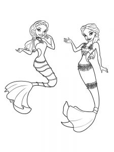 barbie mermaid colouring pages