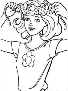 barbie superhero coloring pages