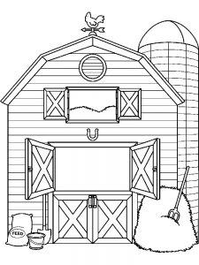 barn and farm animal coloring pages