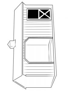 barn and silo coloring pages