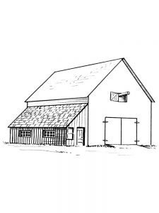 barn coloring pages for adults
