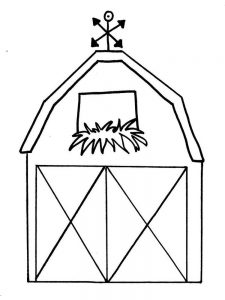 barn coloring pages for preschoolers