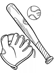 baseball ball coloring pages