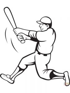 baseball bat coloring pages