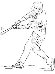 baseball birthday coloring pages