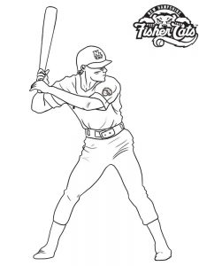 baseball catcher coloring pages