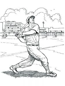 baseball coloring pages free
