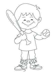 baseball coloring pages free printable