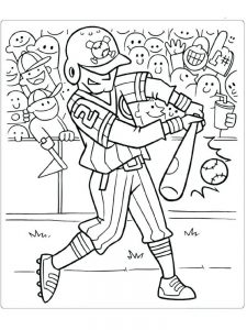 baseball coloring sheets free