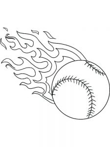 baseball field coloring pages