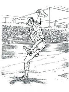baseball field coloring pages printable