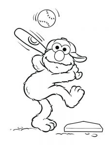 baseball game coloring pages