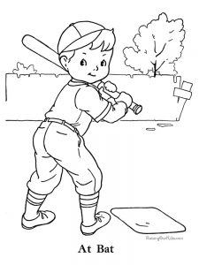 baseball mascot coloring pages