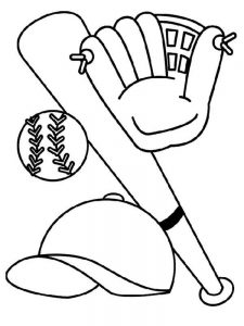 baseball team coloring pages