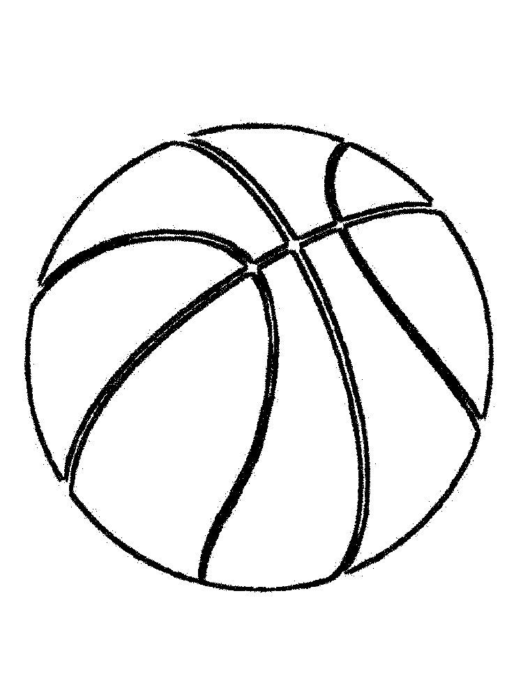 basketball coloring page for toddlers