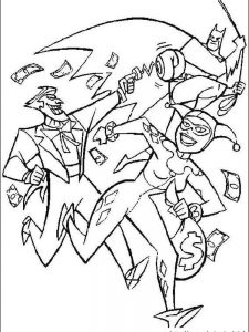 batman and joker coloring pages free