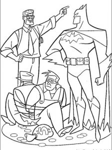 batman batgirl coloring pages