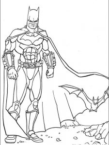 batman colouring pages a4