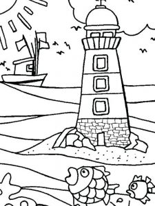 bats at the beach coloring page