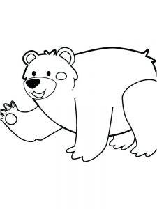 bear coloring pages for toddlers