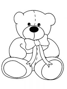 bear doll coloring pages