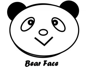 bear head face coloring book