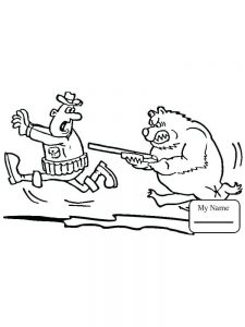 bear hunt coloring pages free