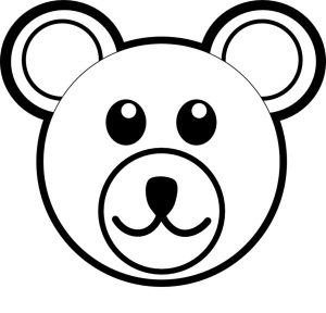 bear head and face coloring picture