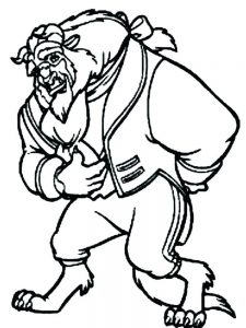 beauty and the beast castle coloring pages