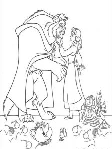 beauty and the beast coloring pages 2017 1