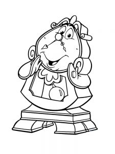 beauty and the beast coloring pages 2017