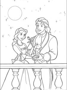 beauty and the beast coloring pages for adults 1