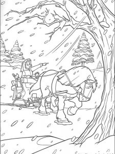 beauty and the beast coloring pages free to print 1