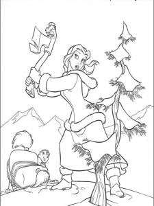 beauty and the beast coloring pages gaston 1