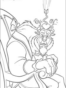 beauty and the beast coloring pages pdf