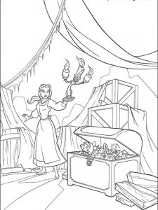 beauty and the beast coloring pages stained glass