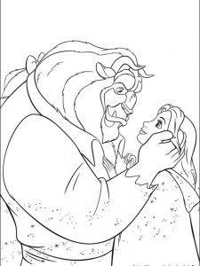 beauty and the beast colouring pages 2017