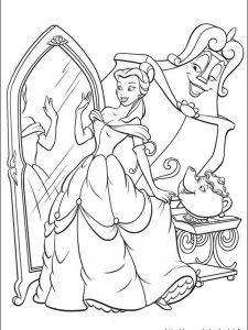beauty and the beast colouring pages free